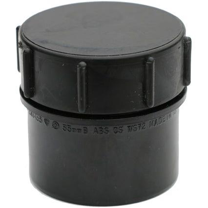 Black Solvent Weld Threaded End Cap