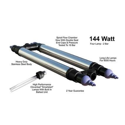 Cloverleaf Smartstart Stainless Steel UV 144 watt