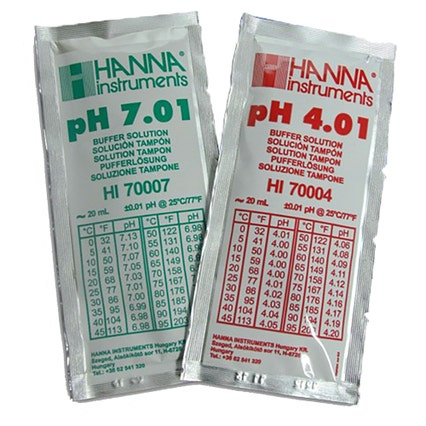 Hanna Calibration Solution pH 4.01 and 7.01 (5 x 20ml of each)